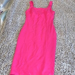 Pink midi bodycon dress